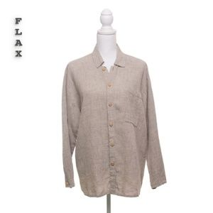 Flax By Jeanne Engelhart Button Down Size S
